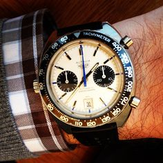 Courtesy of @hannahelliottforbes on Instagram.     Heuer Autavia Jo Siffert