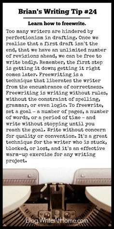 Brian's Writing Tip No. Descriptive Writing Can Include Action. Writing Quotes, Writing Advice, Writing Resources, Writing Help, Writing Skills, Writing A Book, Writing Ideas, Fiction Writing, Writing Corner
