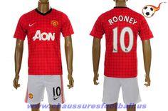 Manchester United Maillot Rooney 10 Domicile 2012-2013 FT2735