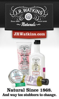 J.R. Watkins sells only natural products! They've been in business for over 145 years! Quality products you can trust!