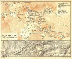 1926 Hadrian Villa Adriana Floor Plan  by CarambasVintage on Etsy, $16.00