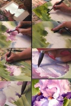 watercolor techniques by Sandie McCulloch