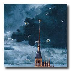 """""""Mont Saint Michel (haut)"""" - By Marie-Anne FOUCART"""