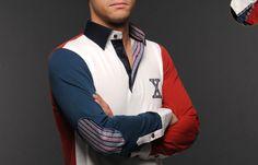 Long Sleeve French Flair Polo Shirt & Elbowpad, - Dress Shirts for Men - French-Shirts.com
