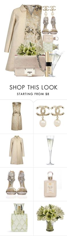 """Champagne : Bag and Shoes"" by sweta-gupta ❤ liked on Polyvore featuring Dolce&Gabbana, Chanel, Paule Ka, CB2, Antica Farmacista, Vera Bradley, Jane Seymour Botanicals, Jimmy Choo, women's clothing and women"