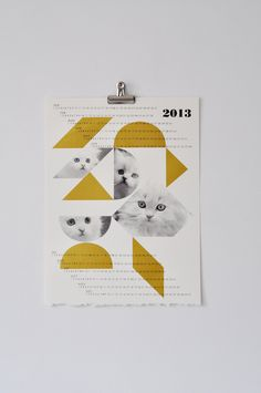 For the cat lover: dreamcats 2013 calendar, gold. $30.00.