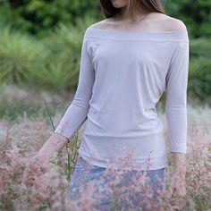 Shoulder Length, Off The Shoulder, Shirt Sleeves, Tunic Tops, Slim, Blouse, Dresses, Women, Fashion