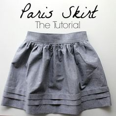 how to make your very own Paris skirt in any size!
