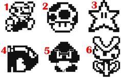 Listado está para un Mario de 8 bits etiqueta.  Cada etiqueta es de aproximadamente 3 pulgadas.