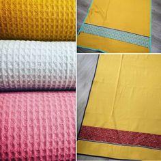 Tejido de toalla de algodón ideal para hacerte toallas DIY, paños o arrullos...