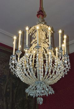 Chandelier in the Chateau de Chambord, Loire Valley, France.
