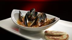 Mussels Saganaki with Dill Pita Bread Summer Recipes, Great Recipes, My Kitchen Rules, Pita Bread, Latest Recipe, Mussels, Fish And Seafood, Food Inspiration, Breakfast Recipes