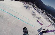 Sochi 2014 - SLOPESTYLE COURSE PREVIEW. A first look at the Sochi 2014 slopestyle course with Russian snowboarder Alexey Sobolev.