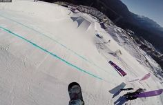 Sochi 2014 - SLOPESTYLE COURSE PREVIEW. A first look at the Sochi 2014 slopestyle course with Russian snowboarder Alexey Sobolev.