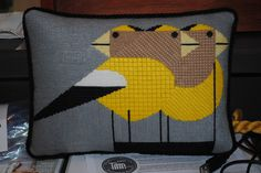 Charlie Harper Design stitched by Nancy and finished by Adornment Needlepoint.