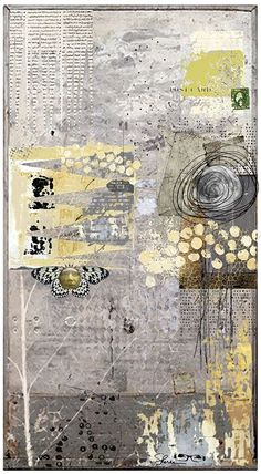 Grey Day Abstract Art Collage Art Print