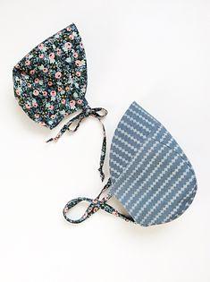 & months, Reversible Sun Bonnet, Rifle Paper Co Floral/Blue Linen by babyBbasic on Etsy Nape Of Neck, Brown Trim, Rifle Paper Co, Printed Linen, Alpaca Wool, 12 Months, Coin Purse, Sun, Floral