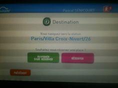 Sympa #Autolib de pouvoir réserver depuis l'écran de contrôle de la voiture qd on choisit sa destination...
