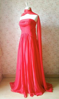 Christmas SaleRed Prom DressStrapless Maxi Prom by Dressromantic-$169.99+-Assorted Colors