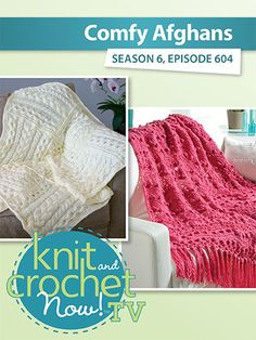 Ellen shows how to stitch up the Spring Bud Afghan by Rena V. Stevens, then Kristin goes through the steps of the knit Cabled Cube Throw. Lena demonstrates the crochet Popcorn Cowl, always a fashion favorite. Knit And Crochet Now, Crochet Hats, Bead Kits, Afghans, Knitting Projects, Cable Knit, Sewing Patterns, Card Making, Comfy