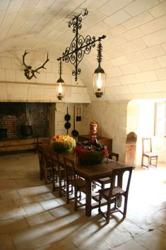 Chenonceau castle Kitchen, France
