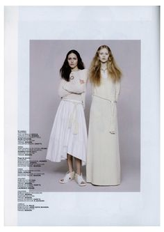 #NEHERA Spring/Summer 2015 pieces in the new February issue of Jalouse Magazine #ss15  Left: Washed poplin skirt