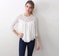 This is one of my favourites outfits from TessChristine. The lace on that top is simply gorgeous!