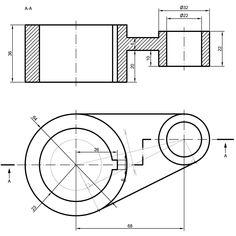 Autocad, Cad 3d, Isometric Drawing, 3d Drawings, Mechanical Design, Technical Drawing, Drawing Techniques, 3d Design, Dbt