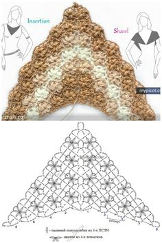 Diagram for a triangular shawl by MyPicot