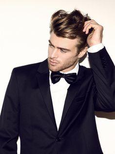 #Groom #Groomsmen #Wedding #Black #Tuxedo #Suit #Bow Tie #Mens. @Celebstylewed