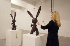 Also at Performa, guests used hammers to break chocolate Jeff Koons rabbits into pieces small enough to eat. jennifer rubells