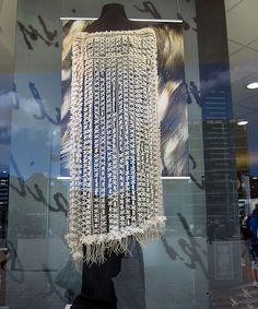 "Saw this beautiful ""korowai"" by Tania Tupu (Beaded Underworld Cloak) @ Te Papa museum shop in Wellington Flax Weaving, Weaving Art, Flax Fiber, Capes & Ponchos, Maori Designs, Museum Shop, Cloaks, Pine Needles, Kite"
