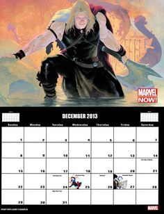 ✭ marvel 2013 calendar - december