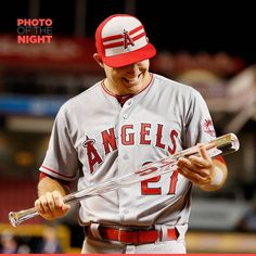 Mike Trout becomes the first player in MLB history to win back-to-back All-Star Game MVP awards.