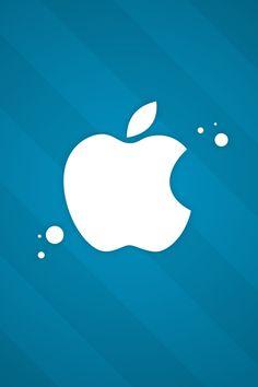 Apple Logo - Blue & White