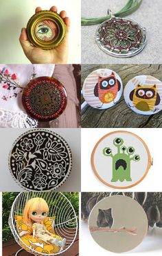Round things by Anna Cull on Etsy-- featuring Owl Necklace by ZaZing