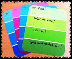 paint chips for teaching - Google Search