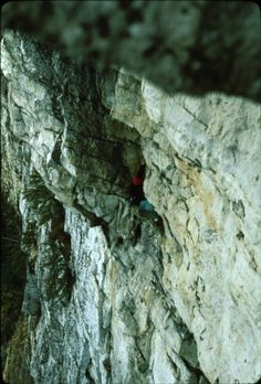 Rich Romano climbing New Frontier in 1980, at the Gunks. From the Rock and Snow BLOG