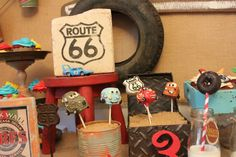 Vintage Cars Radiator Springs Birthday