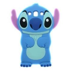 HOT SALE Disney 3D Stitch Case Silicone Case for Samsung Galaxy S3 i9300 (Blue)