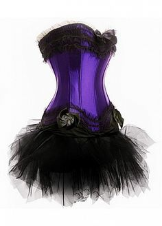 Purple Corset with Black Tutu - for my inner drag queen