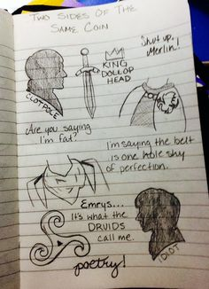 Merlin BBC sketch from my journal