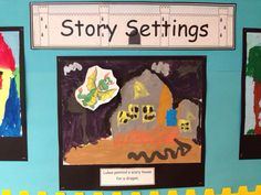 Amazing display of story settings to complement characters previously created in Reception. Scary Houses, Story Setting, Classroom Displays, Learning Environments, Reception, Characters, Create, Amazing, Painting