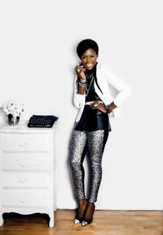 peplum top with leather tights | Leather Peplum Top – White Tuxedo Jacket – Sequin Leggings