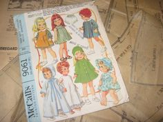 ORIGINAL Doll Clothes PATTERN 9061 for Goody Two Shoes Tiny Tears Ruthie #McCalls