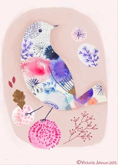 Oiseau - Illustration Victoria Johnson 2015