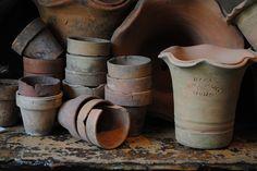 rustic pots.