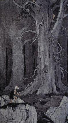 Jack London – Before Adam, ilustración de Charles Livingstone Bull (1907)