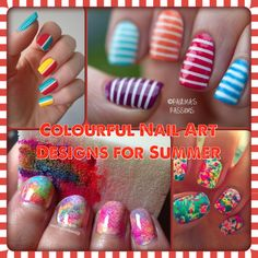 Colourful nail art designs for summer