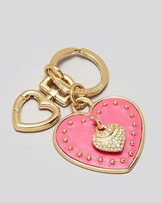 Juicy Couture Key Fob - Leather Heart   Bloomingdale's